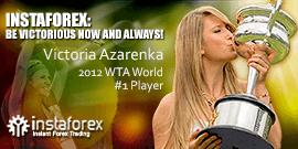 World No.1 tennis player Victoria Azarenka – the face of reliable company InstaForex.
