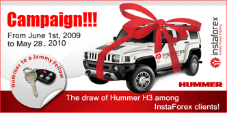 Forex broker No. 1 gives the keys of a brand-new Hummer to its client.